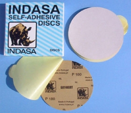 "6"" Solid, White Self-Adhesive Discs"
